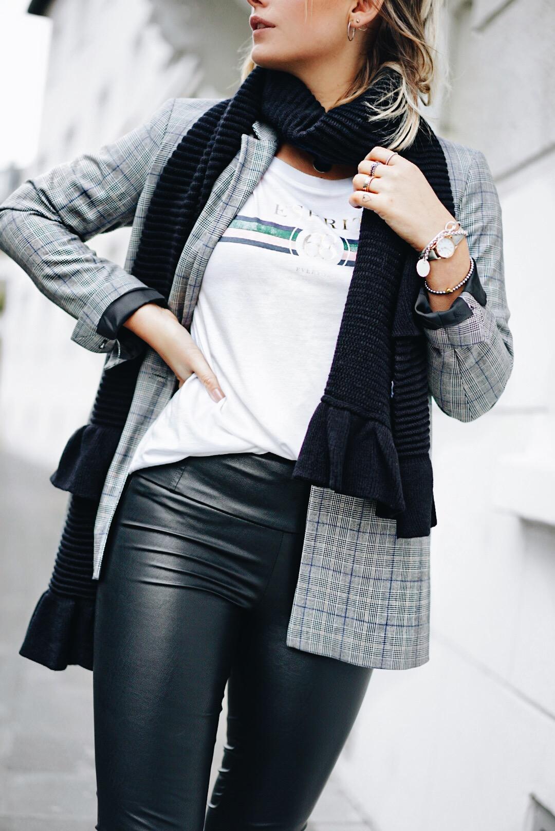 3-looks-esprit-sporty-tshirt-lederleggings-karoblazer-fashionforffranzy-ffranzy-fashionblogger-modeblogger-koeln-cologne-lifestyleblogger-deutschland